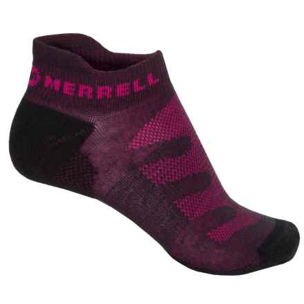 Merrell Lithe Glove Socks - Below the Ankle (For Women) in Charcoal Heather/Pink - Closeouts