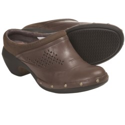 Merrell Luxe Simple Clogs - Leather (For Women) in Navy