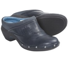 Merrell Luxe Simple Clogs - Leather (For Women) in Navy - Closeouts