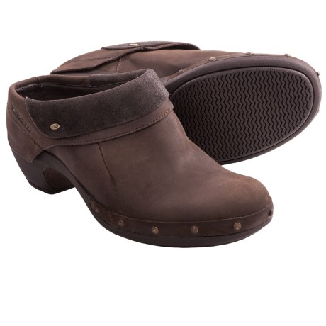 Merrell Luxe Wrap Clogs - Leather (For Women) in Bitter Chocolate