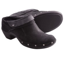 Merrell Luxe Wrap Clogs - Leather (For Women) in Black - Closeouts