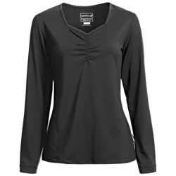 Merrell Mara Sweetheart Neck Shirt - Long Sleeve (For Women) in Black