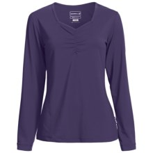 Merrell Mara Sweetheart Neck Shirt - Long Sleeve (For Women) in Fig - Closeouts