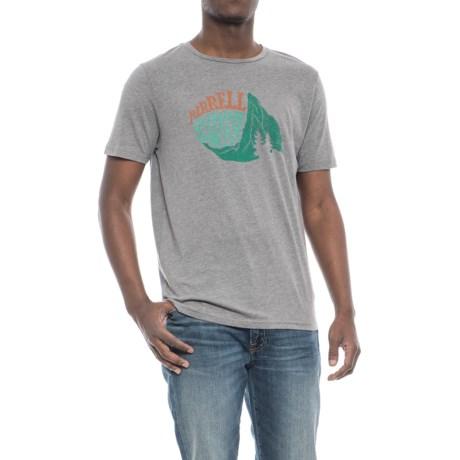 Merrell Matterhorn T-Shirt - Short Sleeve (For Men) in Grey Heather
