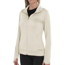 Merrell Mea Silken Fleece Sweatshirt - Full Zip (For Women) in Sea Salt - Closeouts