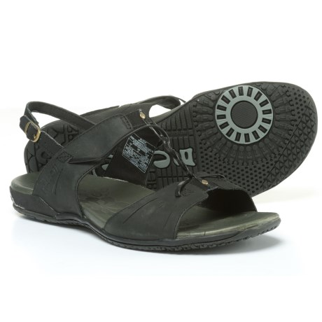 Merrell Micca H-Band Leather Sandals (For Women) in Black