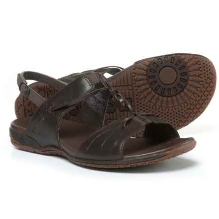 Merrell Micca H-Band Leather Sandals (For Women) in Mahogany - Closeouts