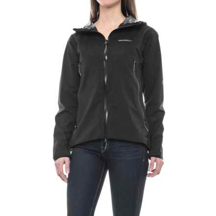Merrell Micro Shield Rain Shell Jacket - Waterproof (For Women) in Black Sld - Closeouts