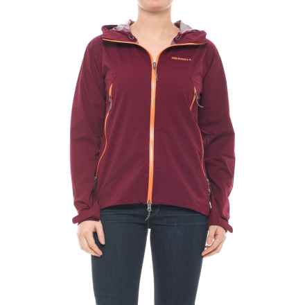 Merrell Micro Shield Rain Shell Jacket - Waterproof (For Women) in Windsor Wine Sl - Closeouts