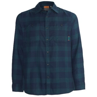 Merrell Millikan Plaid Shirt - UPF 50+, Long Sleeve (For Men) in Ink Plaid