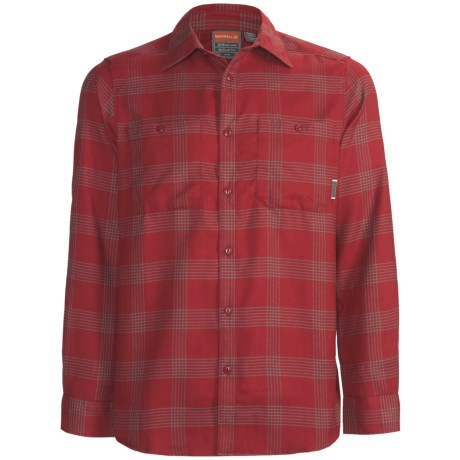 Merrell Millikan Plaid Shirt - UPF 50+, Long Sleeve (For Men) in Scarlet Plaid