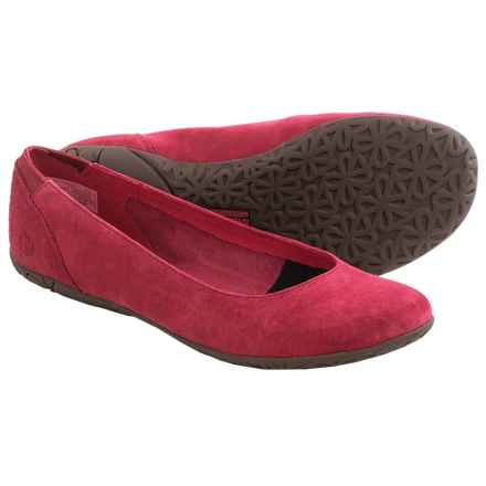 Merrell Mimix Bond Ballet Flats - Suede (For Women) in Red - Closeouts