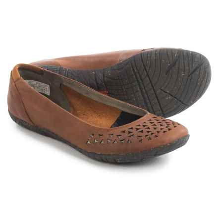 Merrell Mimix Joy Ballet Flats - Leather (For Women) in Tan - Closeouts
