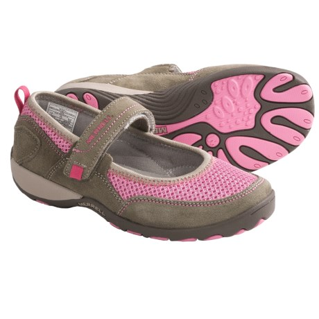 Merrell Mimosa Breeze Shoes - Mary Janes (For Kid and Youth Girls) in Aluminum/Pink