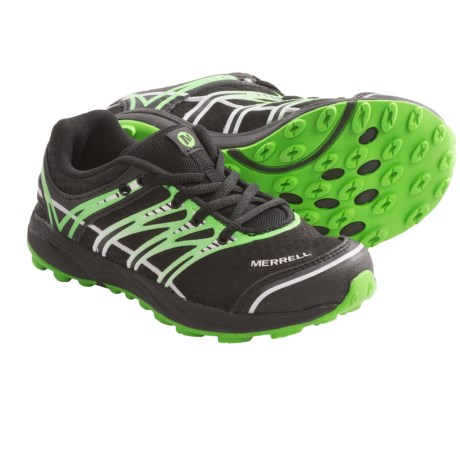 Merrell Mix Master Jam Shoes - Minimalist (For Kids and Youth) in Black/Classic Green