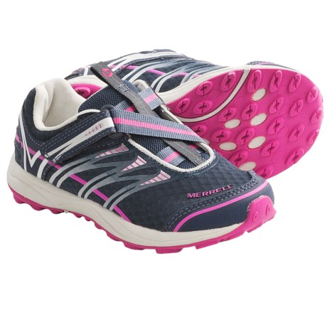 Merrell Mix Master Jam Z-Rap Shoes - Minimalist (For Kids and Youth) in Night Shadow/Pink