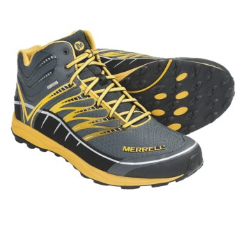 Merrell Mix Master Mid Hiking Boots - Waterproof (For Men) in Granite/Nectar