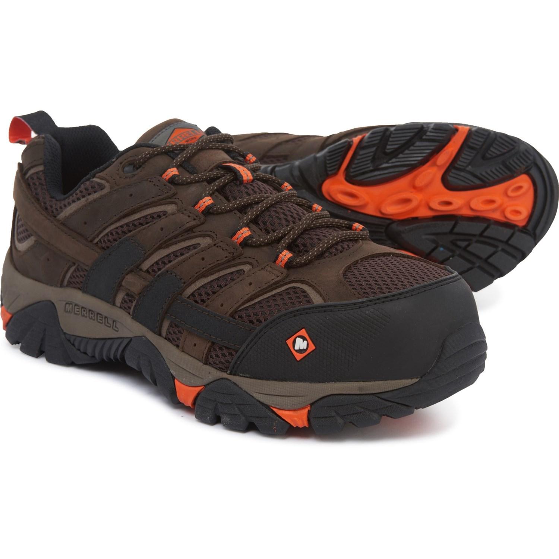 58e3b64770 Merrell Moab 2 Vapor Work Shoes - Composite Safety Toe (For Men)