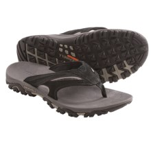 Merrell Moab Drift Flip Sandals -Suede (For Men) in Black - Closeouts