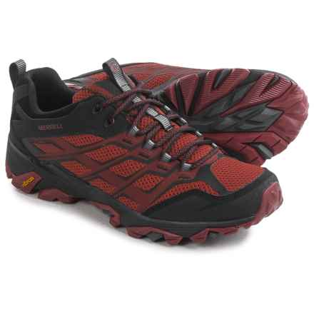 Merrell Moab FST Hiking Shoes (For Men) in Burgundy/Black - Closeouts