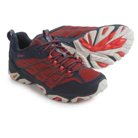 Merrell Moab FST Hiking Shoes (For Men) in Navy/Dark Red - Closeouts