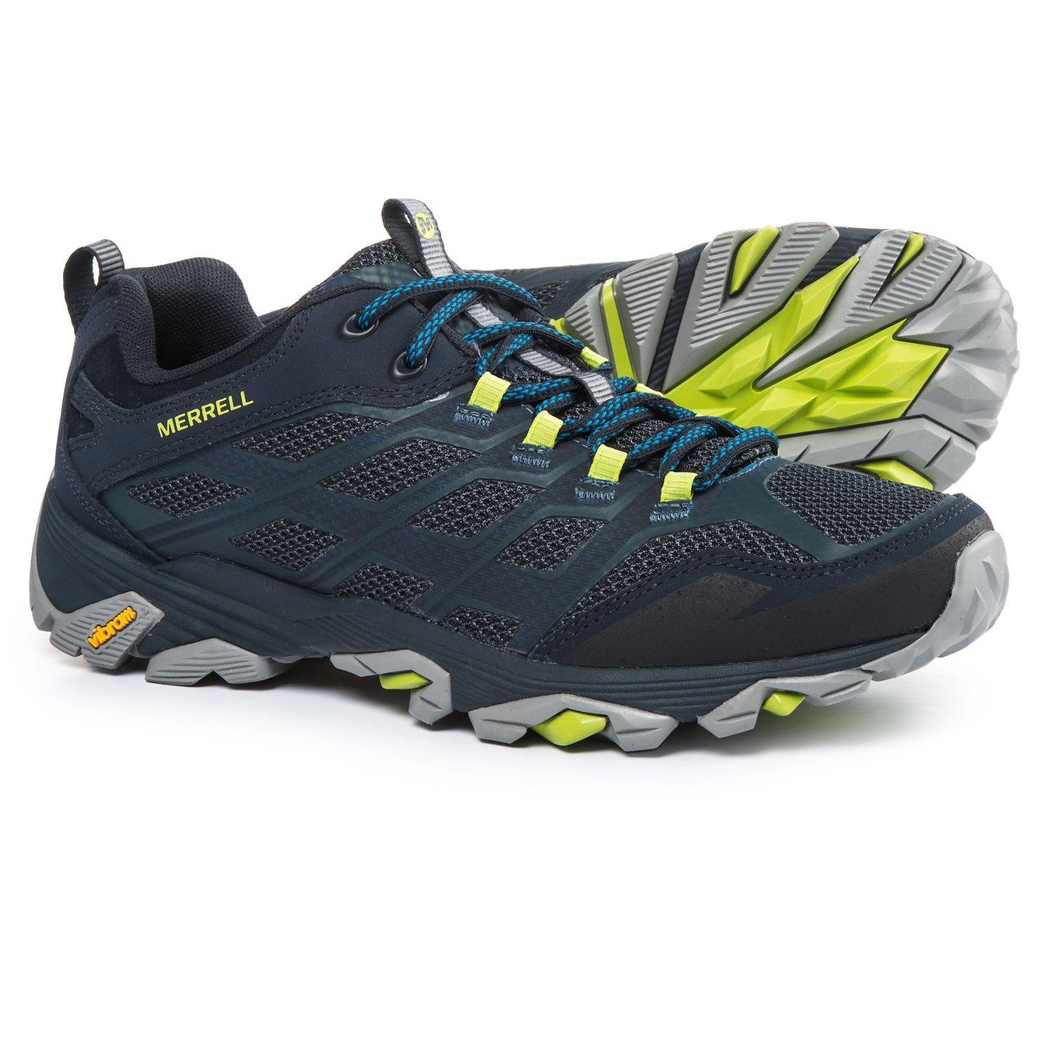Merrell Moab FST Hiking Shoes (For Men) in Navy