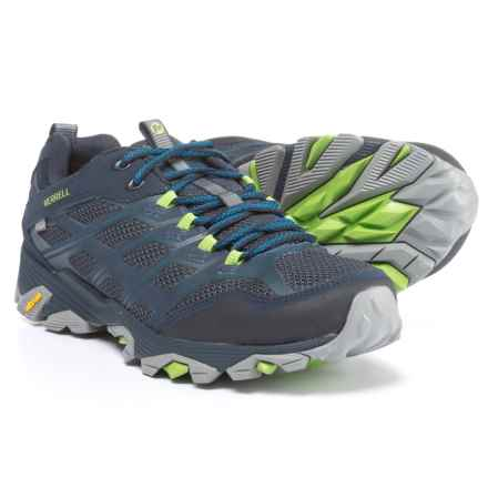 Merrell Moab FST Hiking Shoes - Waterproof (For Men) in Navy - Closeouts