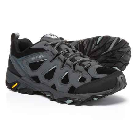 Merrell Moab FST Leather Hiking Shoes (For Men) in Black/Granite - Closeouts