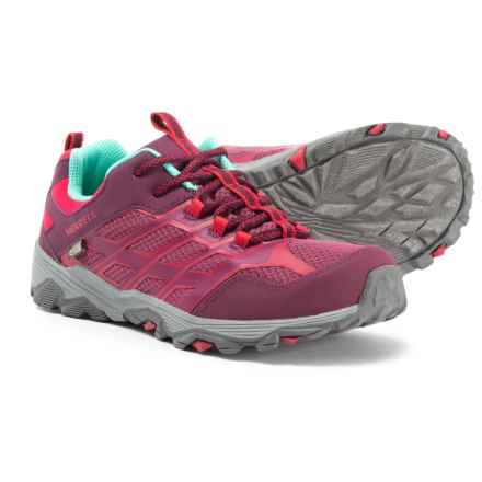 Merrell Moab FST Low A/C Hiking Shoes - Waterproof (For Big Girls) in Berry - Closeouts