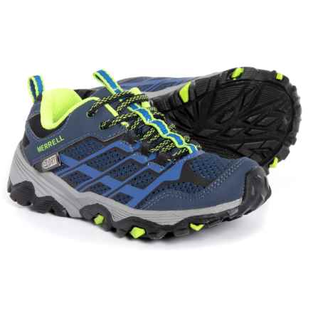 Merrell Moab FST Low A/C Hiking Shoes - Waterproof (For Toddler and Little Boys) in Navy/Blue - Closeouts