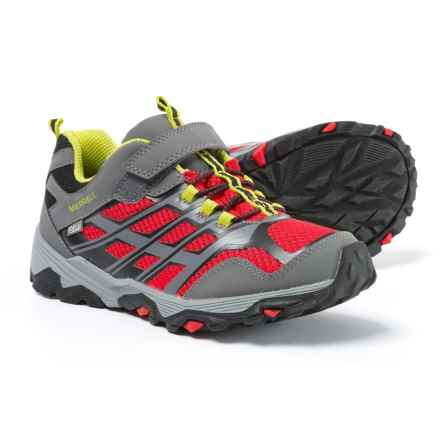 Merrell Moab FST Low A/C Shoes - Waterproof (For Boys) in Grey/Red - Closeouts