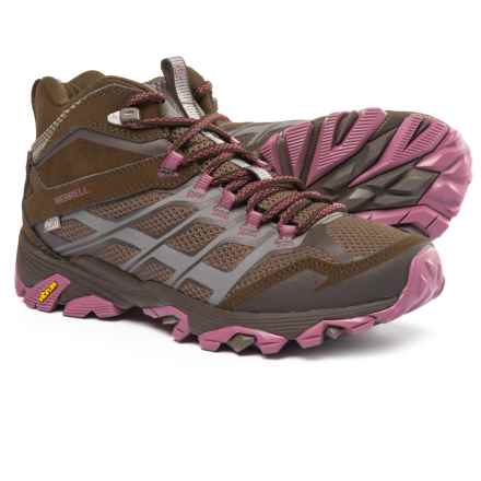 Merrell Moab FST Mid Hiking Boots - Waterproof (For Women) in Boulder - Closeouts