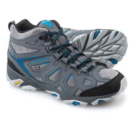 Merrell Moab FST Mid Hiking Boots - Waterproof, Leather (For Men) in Turbulence - Closeouts