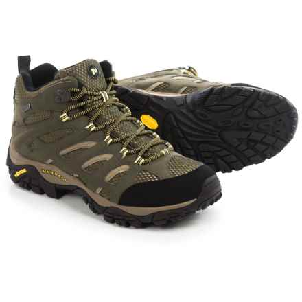 Merrell Moab Mid Hiking Boots - Waterproof (For Men) in Olive - Closeouts