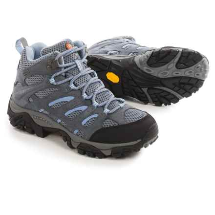 Merrell Moab Mid Hiking Boots - Waterproof (For Women) in Grey/Periwinkle - Closeouts