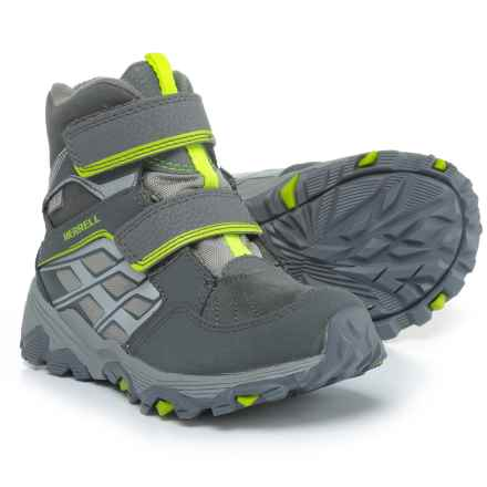 Merrell Moab Polar Snow Boots - Waterproof, Insulated (For Boys) in Grey - Closeouts