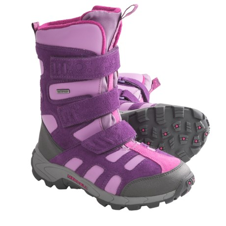 Merrell Moab Polar Snow Boots - Waterproof, Insulated (For Kids and Youth) in Wineberry