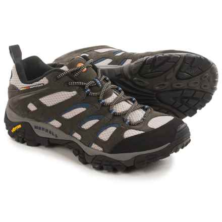 Merrell Moab Ventilator Hiking Shoes (For Men) in Beluga/Denim Blue - Closeouts