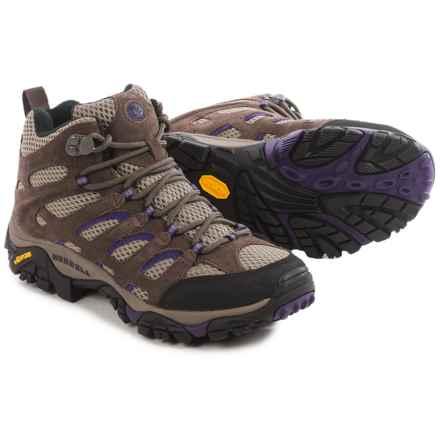 Merrell Moab Ventilator Mid Hiking Boots (For Women) in Bracken/Purple - Closeouts