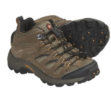 Merrell Moab Ventilator Mid Shoes (For Kids and Youth) in Walnut - Closeouts