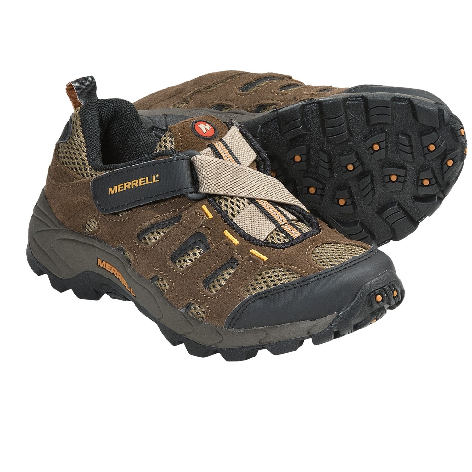 Merrell Moab Ventilator Shoes (For Kids and Youth) in Walnut
