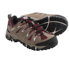 Merrell Mojave Hiking Shoes - Waterproof, Leather (For Women) in Boulder/Red - Closeouts