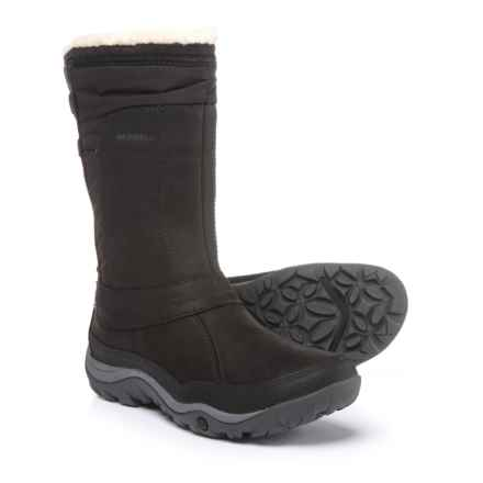 Merrell Murren Mid Snow Boots - Waterproof, Insulated (For Women) in Black - Closeouts