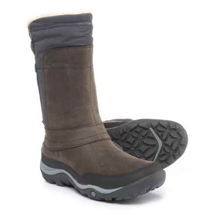 Merrell Murren Mid Snow Boots - Waterproof, Insulated (For Women) in Pewter - Closeouts