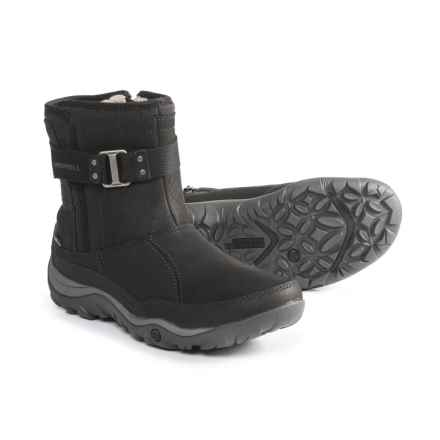 Merrell Murren Strap Low Boots - Waterproof, Leather (For Women) in Black - Closeouts