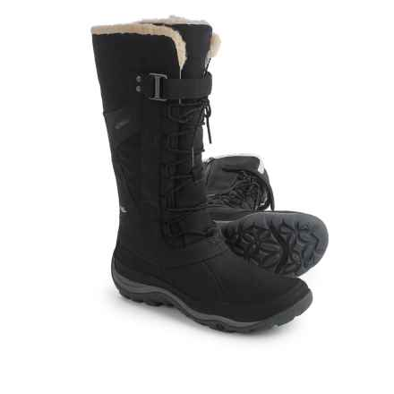 Merrell Murren Tall Leather Snow Boots - Waterproof, Insulated (For Women) in Black - Closeouts
