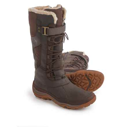 Merrell Murren Tall Leather Snow Boots - Waterproof, Insulated (For Women) in Bracken - Closeouts