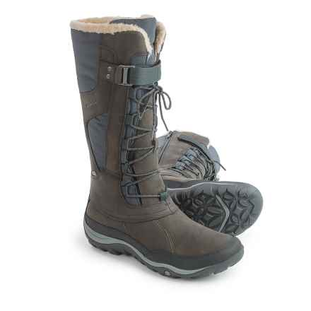 Merrell Murren Tall Leather Snow Boots - Waterproof, Insulated (For Women) in Pewter - Closeouts