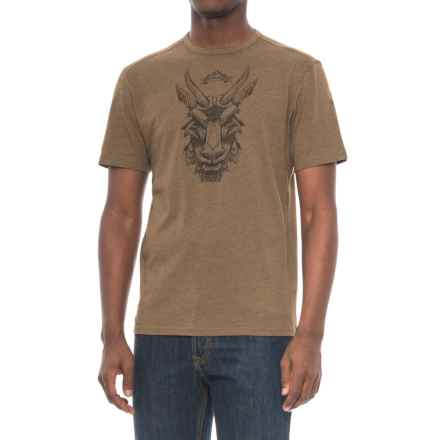 Merrell Mystic Goat T-Shirt - Cotton Blend (For Men) in Beech - Closeouts