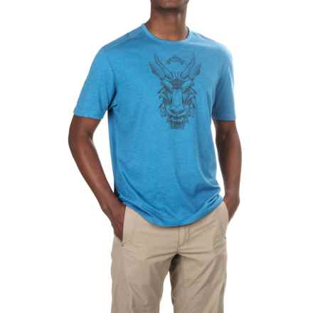 Merrell Mystic Goat T-Shirt - Cotton Blend (For Men) in Snorkel Blue - Closeouts